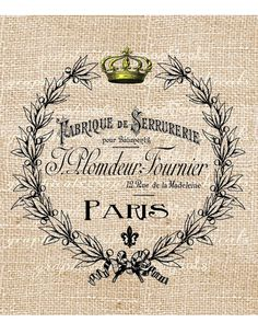 Paris digital download Vintage ephemera ad fabric by graphicals, $1.00