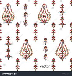 New Mughal Flower Motif Pattern Background Stock Vector (Royalty Free) 1413460637 Flower Motif, Flower Patterns, Flower Designs, Stencil Patterns, Pattern Art, Print Patterns, Islamic Motifs, Islamic Art Pattern, Paisley Art