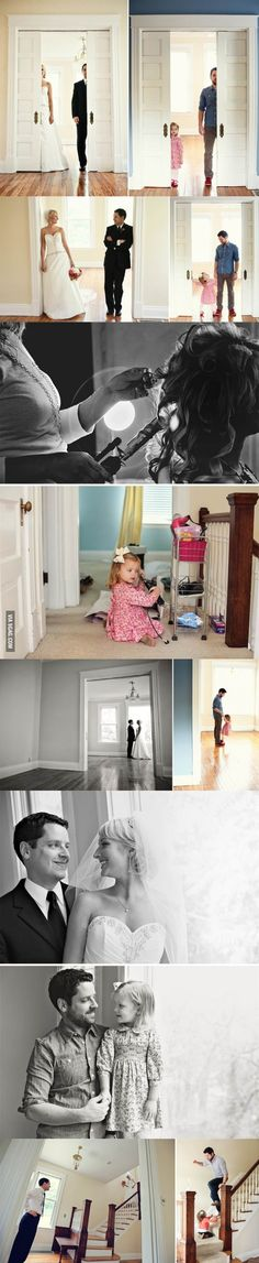 Wife died unexpectedly from a rare cancer so Dad recreated their wedding pictures with their 3 year old daughter. I hope I (or my husband) never have to go through this, but it certainly does show the level of commitment the dad shows to his daughter. Making the best of the situation is hard, and this dad did a BEAUTIFUL job.