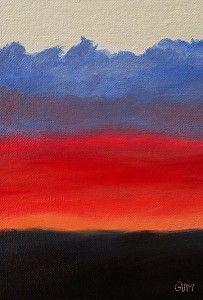 Winter Dawn by Giselle Vidal McMenamin Oil ~ 7 x 5