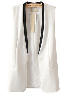 Work Essential White Cotton Vest