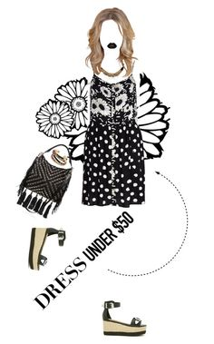 """""""Dream Closet: Dress Under $50"""" by beardwhitney on Polyvore featuring Gas Bijoux, River Island, Shoe Cult, Sam Edelman, Rebecca Minkoff and Lime Crime"""