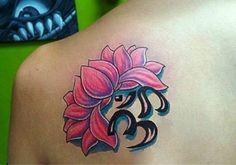 Tattoo lotus back om symbol 54 ideas Lotus Flower Color Meaning, Lotus Flower Colors, Om Tattoo Meaning, Tattoos With Meaning, Tattoo Meanings, Tattoo Sleeve Filler, Sleeve Tattoos, Flower Tattoo Designs, Tattoo Designs Men