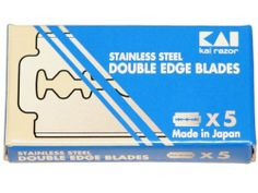 Kai Stainless Steel Double Edge Razor Blades by Kai Razor. $4.95. Kai Double Edge Razor Blades are made from high quality, medical grade stainless steel. These blades are hard to find, but are the sharpest blades available. Kai Double Edge Razor Blades allow for closeness and consistency. Made in Japan