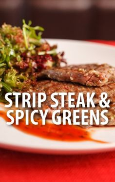 Rachael Ray shared her Strip Steak Tagliata with Burst Tomato Pizzaiola and Baby Spicy Greens Salad recipe. http://www.recapo.com/rachael-ray-show/rachael-ray-recipes/rachael-strip-steak-tagliata-recipe-tomato-pizzaiola-spicy-greens/
