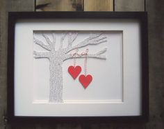 """This tree has the lyrics of """"your song"""" whether it is your wedding song or the first song you danced to with your love!"""