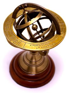 "(sku no:brass armillary nd_131) 6"" Brass Antique Finish Armillary Celestial Globe with Zodiac Engravings.please visit www.krishnamartindia.com"