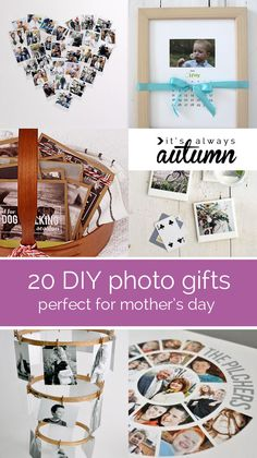 great collection of DIY photo gifts - some are better for moms, but #7, #8 or #11 would be perfect for Father's Day!