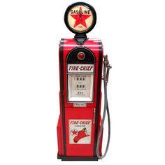 Awesome Gasoline Pump CD DVD Storage Cabinet with Clock $999.90 (AUD). Love it! Dvd Storage Cabinet, Cd Dvd Storage, Storage Organization, Dvd Cabinets, Gas Fires, Retro Color, Centre Pieces, Get One, Clock