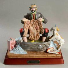 Emmett Kelly Jr. Emmett Kelly Clown, Clown Statue, The Ed Sullivan Show, Clowning Around, Clowns, Vintage Antiques, Jr, Clay, Artists