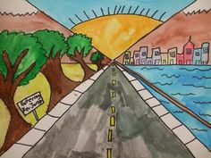 5th gr. one-point perspective lesson