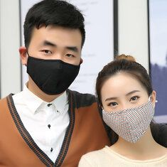 Travel Anti-Dust Particulate Respirator Masks Safety Face Masks Anti-fog Anti influenza Face Mask with 10 pcs Filters cucumber mask, creepy masks, origins mask Diy Mask, Diy Face Mask, Face Masks, Diy Beauty Mask, Creepy Masks, Cucumber Mask, Respirator Mask, Activated Carbon Filter, Black Mask