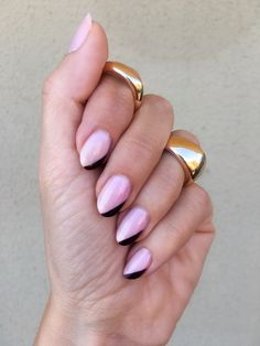 This modern twist on the classic French manicure looks so unique and is so easy to recreate, you'll love to wear side tip nails in all your favourite shades.