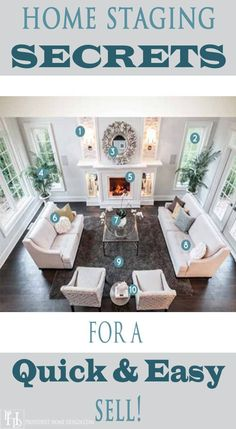 This article shares home staging secrets in an interview with professional home stager, Tori Toth! Lots of great advice including best paint colors to sell a home! How to stage a home for sell.