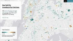 Mapping building based emissions and street trees of New York City