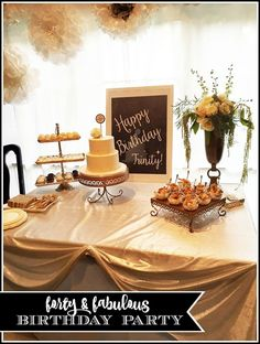 "Easy ideas to host an elegant and fun ""forty and fabulous"" theme party for a…"