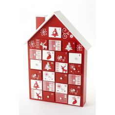 Beautiful Hand Painted Wooden Christmas House Advent Calender with Drawers Christmas Bunting, Christmas Minis, White Christmas, Christmas Time, Christmas Crafts, Christmas Decorations, Christmas Ornaments, Twelve Days Of Christmas, Scandinavian Christmas