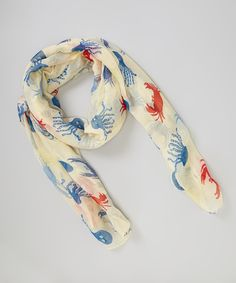 Love this Off-White Sea Life Scarf by Bubbly Bows on #zulily! #zulilyfinds