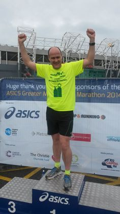 David at the Manchester Marathon