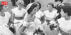 Jackie Kennedy on her wedding day in Newport, R.I. on Sept. 12, 1953.
