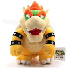 "And 10/"" Standing Bowser Koopa King Plush Toys Set 2X Super Mario Bros Bowser Jr"