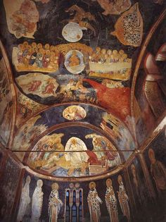 Οι τοιχογραφίες της Μονής της Χώρας στην Κωνσταντινούπολη - Ορθοδοξία News Agency Jesus Painting, Mural Painting, Mural Art, Fresco, Early Christian, Christian Art, Tempera, Biblical Art, Church Architecture