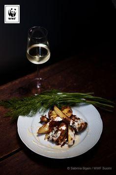 Tuplapaneroitu kuha ja parmesankastike | Soppa365