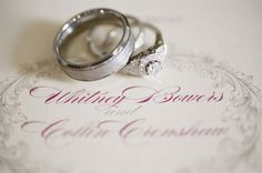 beautiful ring set. Photo by jHenderson Studios.