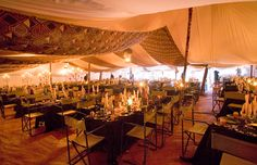 Dinner for 150 guests in African Safari themes