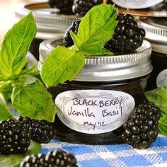 BLACKBERRY VANILLA BASIL JAM Homemade Recipe » The Homestead Survival