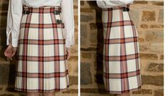 Kilt only from the back and side #christinayoung #orange #tartan