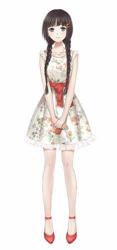 She lives at makto brown hair roupas de anime, como desenhar anime, desenho Pretty Anime Girl, Beautiful Anime Girl, Kawaii Anime Girl, Anime Art Girl, Anime Girls, Chica Anime Manga, Anime Chibi, Manga Girl, Otaku