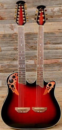 Double neck Ovation six and twelve string Guitar --- https://www.pinterest.com/lardyfatboy/