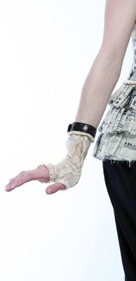 """LIP SERVICE Step In Time """"Tea Stained"""" gloves #38-800-004"""
