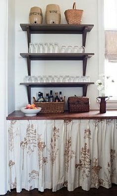 Valerie Wills Interiors Beautiful Cottages Love The Look And Fabric Of Skirt Kitchen