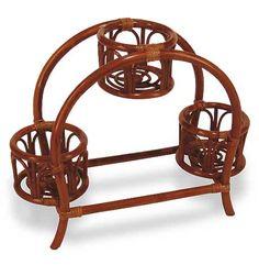 """плетеная мебель из ротанга -  цветочница """"Мост"""""""