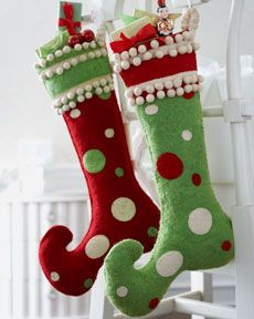 "Christmas ""Jester"" stockings"
