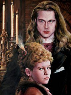 INTERVIEW WITH THE VAMPIRE: CLAUDIA & LOUIS IN PARIS LIFE SIZE PORTRAIT(detail faces) Comic Art