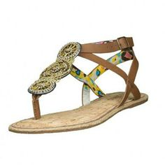 All of the beads on these sandals are handmade by women in Africa who are paid fair wages and aided in their education.  So encouraging.