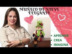 Como Hacer Un Muñeco de Nieve Elegante Paso A Paso - YouTube Spanish Projects, Gnome, North Pole, Snowman, Lily, Dolls, Youtube, Christmas, Christmas Decor
