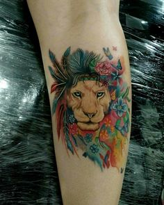 Lion tattoo fantasy