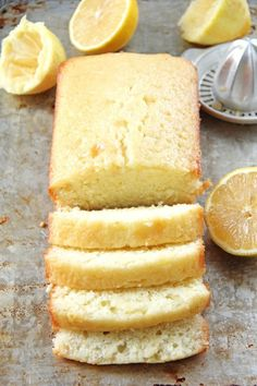 This Easy Lemon Loaf is perfectly tangy and bursting with fresh lemon flavour! Loaf Recipes, Baking Recipes, Cake Recipes, Dessert Recipes, Chicken Recipes, Lemon Loaf Cake, Lemon Bread, Easy Lemon Cake, Lemon Cookies Easy