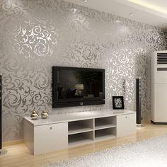 Dicas para decorar salas pequenas tvs pot lights and - Papel pintado salon ...