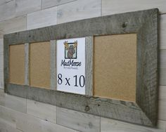 Barn Wood 4 pane Picture Frame [style: Thin x Barn Wood Picture Frames, 8x10 Picture Frames, Picture On Wood, Rustic Barn, Rustic Decor, Grey Wood, Weathered Wood, Crates, Wood Boards