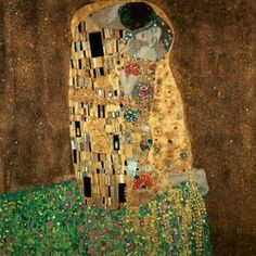 Der Kuß  by Gustav Klimt Art Nouveau, Art Klimt, Illustration Art, Illustrations, Art Moderne, Famous Artists, Love Art, Oeuvre D'art, Koloman Moser