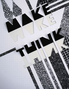 Make/Think AIGA Conference Poster (Student Work at CSULB).  http://www.behance.net/emmavallee/frame/750444