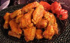 Crispy Chicken Wings with Tsaketa Hot Sauce Recipe by Nadia G