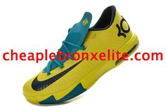 Kevin Durant 6 Chrome Yellow Teal Navy Kevin Durant 599424 700