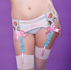 Donuts garter belt. Seriously.  re-pinned by Poppie at http://adultlittlegirl.com
