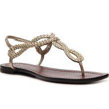 Maids.  Gold flat sandal.